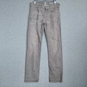 7FAM Standard Jeans Mens 29 X 33 Button Fly